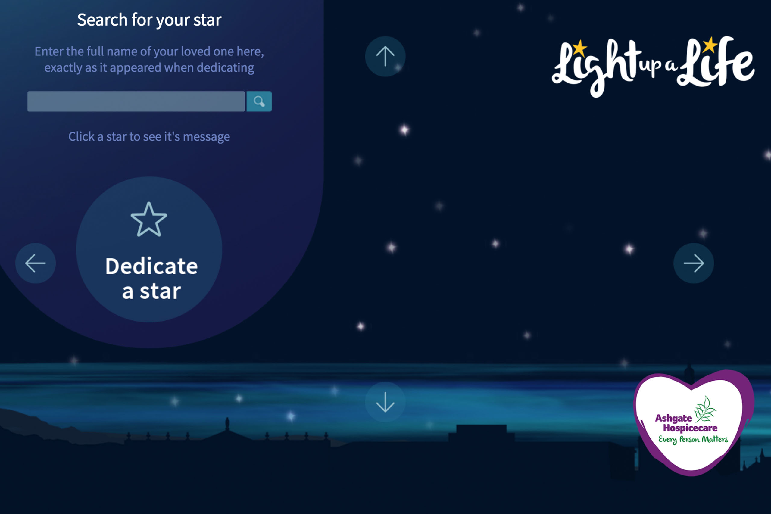 A meaningful website for Light Up A Life