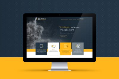 DMG Asbestos brand and website design