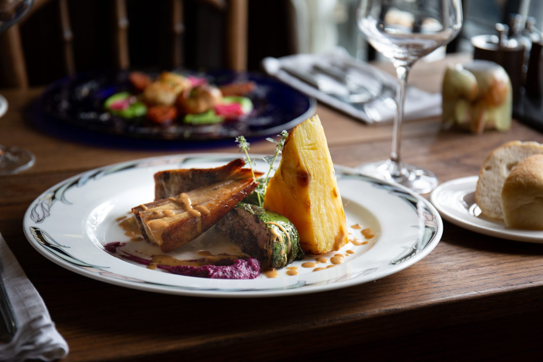 A main dish from The Old Post in Chesterfield - brand photography
