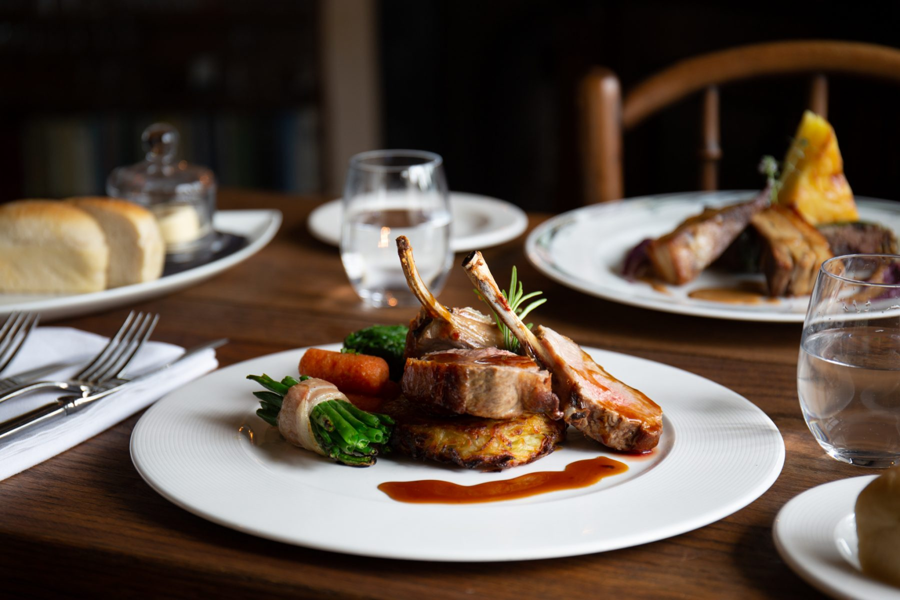 A main course dish from The Old Post in Chesterfield - brand photography